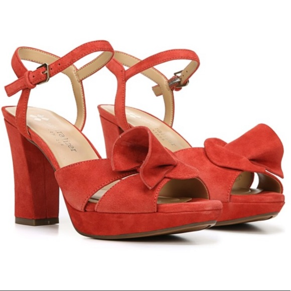 0f9e90d06d Naturalizer Shoes | Adelle Red Suede Open Toe Heels 8 | Poshmark